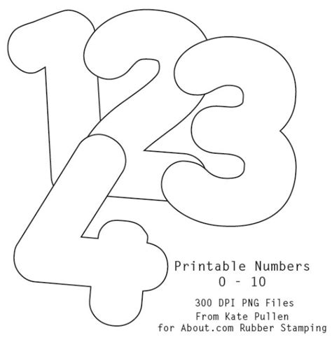 free printable numbers 1 to 10 7 best images of printable bubble numbers 0 10 free