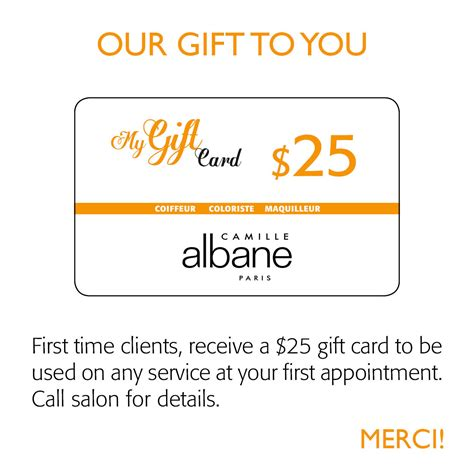 Gift Cards For Clients - 25 gift cards for new clients camille maple grove