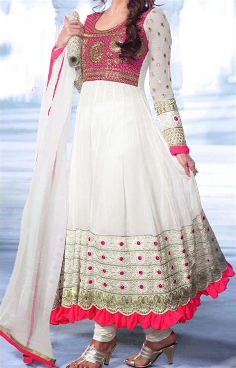 Latest Gown Floor Length Anarkali Frock Actress Suits