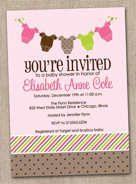 printable baby shower invitations baby tees bunting