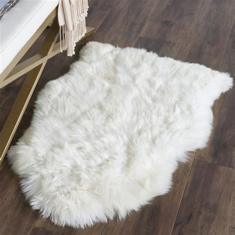 sheep hide rug rug shs211a sheep skin area rugs by safavieh