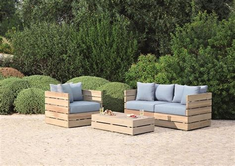 wooden garden sofa set outdoor chair diy pergola