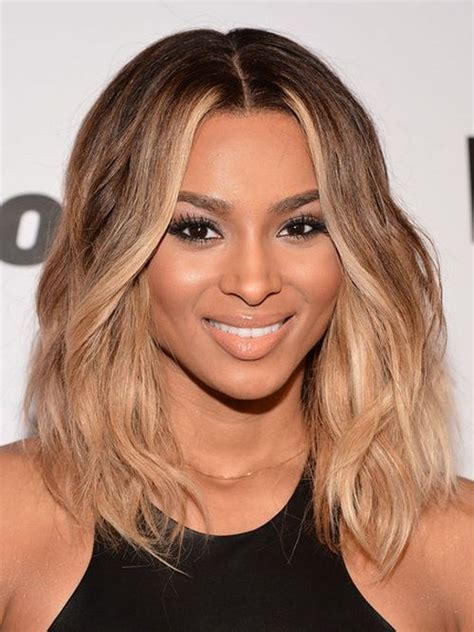 mid length hairstyles for the older person ciara s midlength ombre bob but i want it in black and