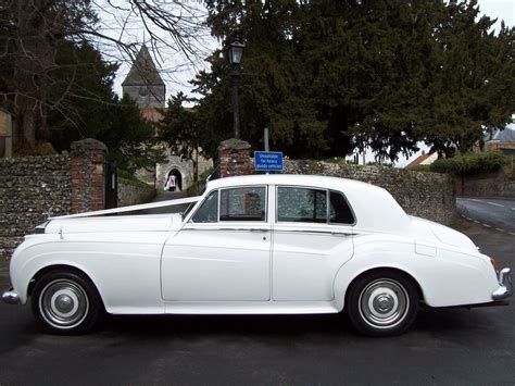 white rolls royce silver cloud kent medway wedding cars