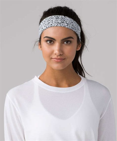 lululemon patterned headbands lululemon fly away tamer headband ii luxtreme ditsy