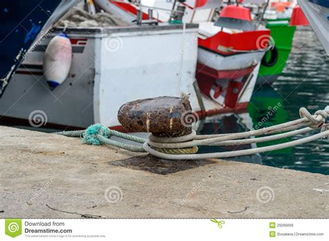 boat time in spanish boat mooring in spanish port royalty free stock images