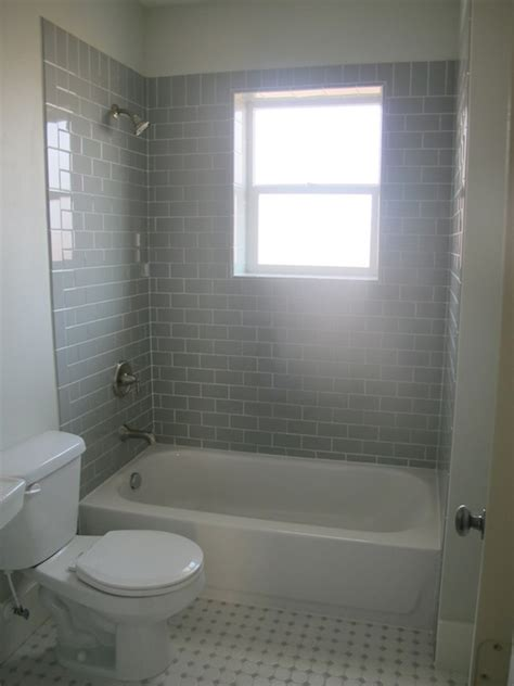 Subway Tile In Bathroom Ideas Gray Subway Tile Bathroom Contemporary Bathroom