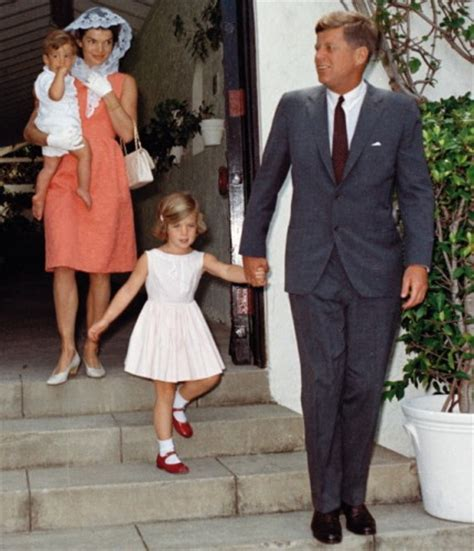 john f kennedy children jfk with jackie and children blue light lady