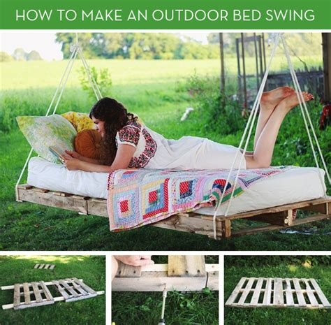 Move Over Hammocks How To Make An Outdoor Bed Swing