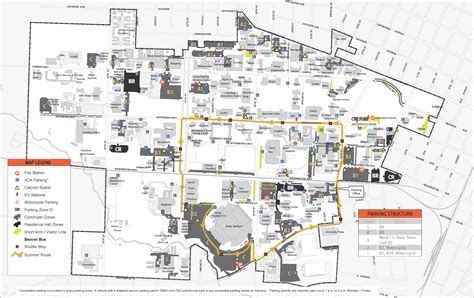 parking map of oregon osu beaver finance and administration oregon state