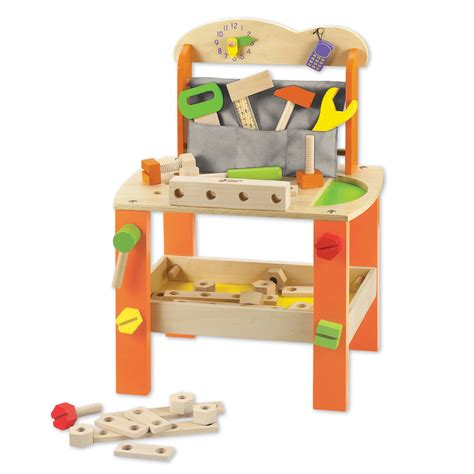 wooden childrens tool bench classic toy tool bench