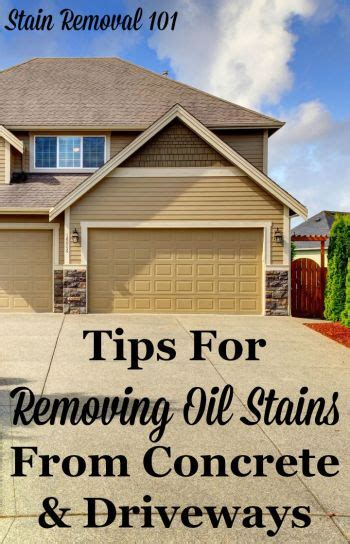 removing oil stains  concrete tips instructions