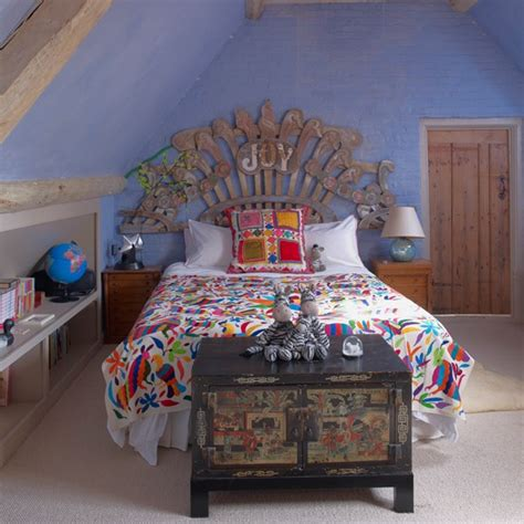 colourful  quirky girls bedroom housetohomecouk