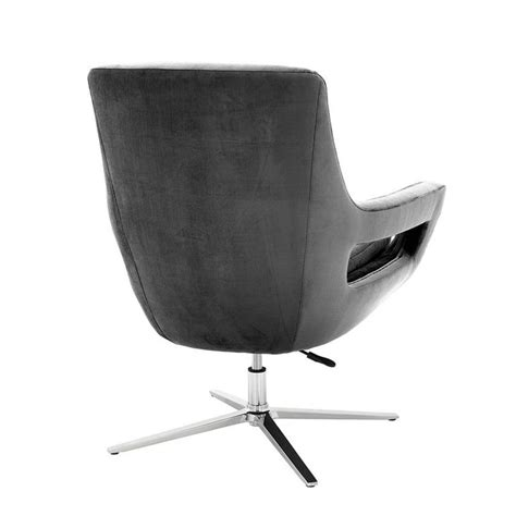 Grey Swivel Armchair by Grand Office Swivel Armchair In Granite Grey Fabric For