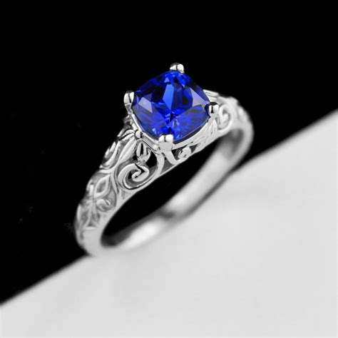 Antique Blue Sapphire Engagement Rings   Wedding, Promise