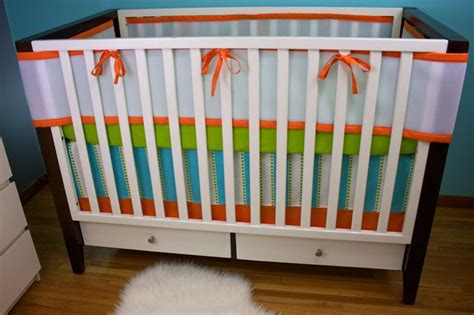 Mesh Bumpers For Crib by Breathable Mesh Bumpers Bumperless Custom Crib Bedding