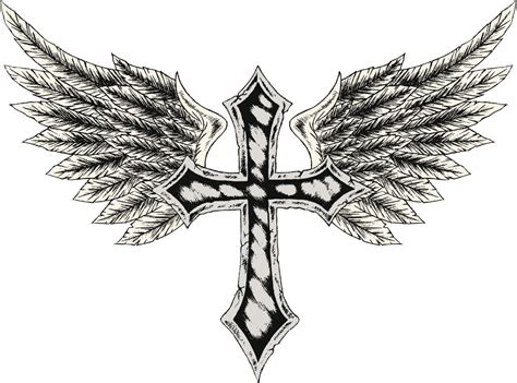 these cross tattoos with wings are sure to look uniquely