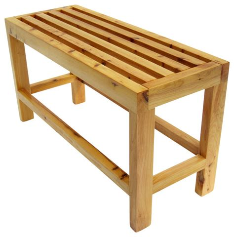 Bathroom Sitting Bench Alfi Ab4401 26 Quot Solid Wood Slated Single Person Sitting