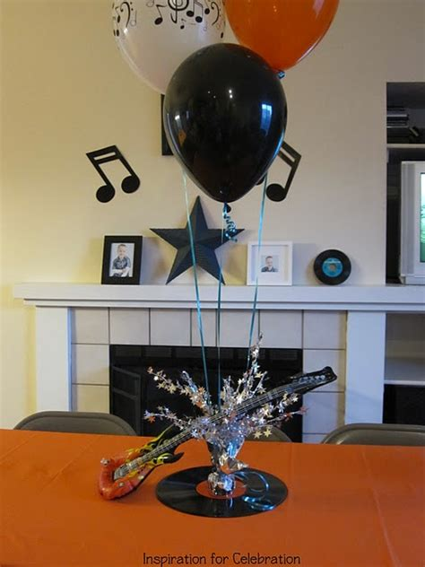 rock and roll centerpiece rock and roll party pinterest