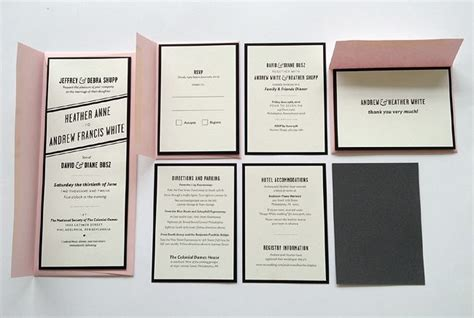 Printed Wedding Invitations by Sire Press Screen Printed Wedding Invitation Packages