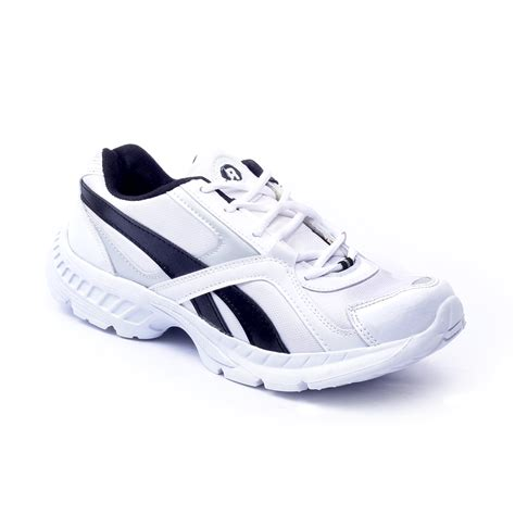 Comfortable White Sneakers by Foot N Style Comfortable White Blue Sports Shoes