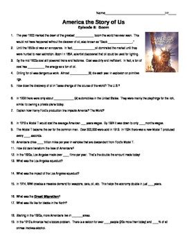 America Story Of Us Cities Worksheet by America The Story Of Us Boom Episode 8 Guide By