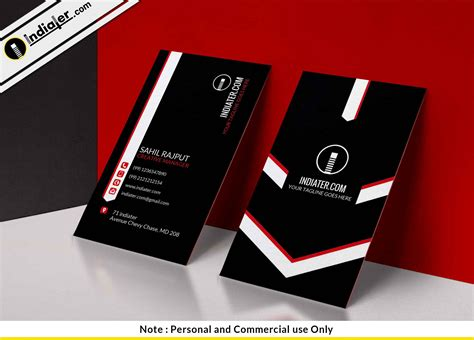 Stylish Business Card Template Psd by Indiater Stylish Black Vertical Business Card Psd