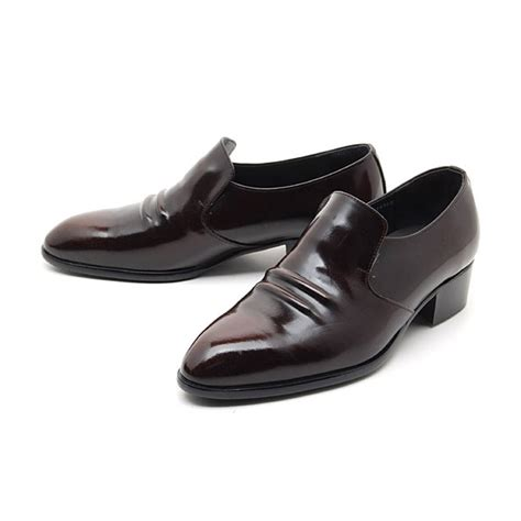 loafer dress shoes mens real leather inner band loafers slip on dress shoes