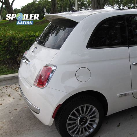 2007 2012 fiat 500 hatchback abarth style rear wing spoiler