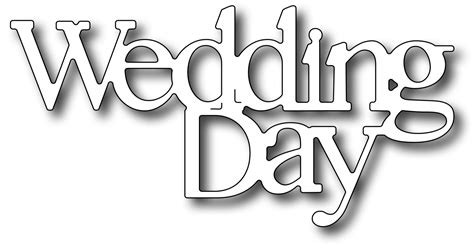 Frantic Stamper Precision Die   Wedding Day Words