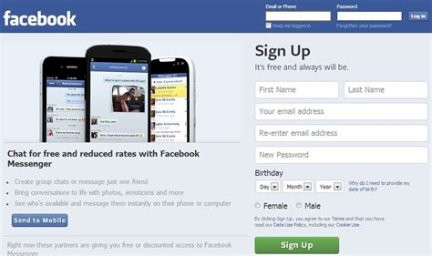 fb sign up 7 steps how to create sign up a new facebook fb account