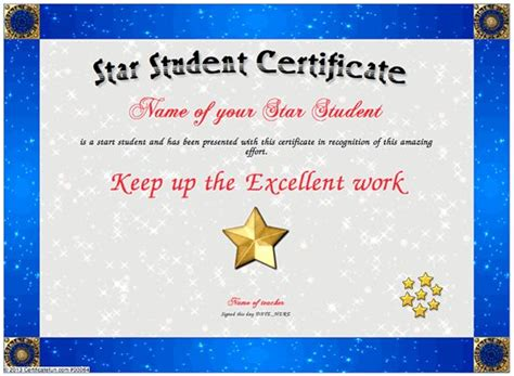 printable all star certificates pinterest the world s catalog of ideas