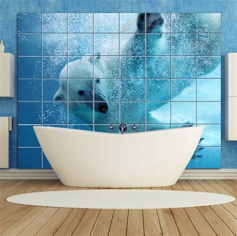 tiles on board for bathrooms bathroom polar bear image on bathroom tile board wall