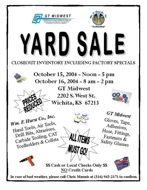 garage sale ideas and crafts and flyers