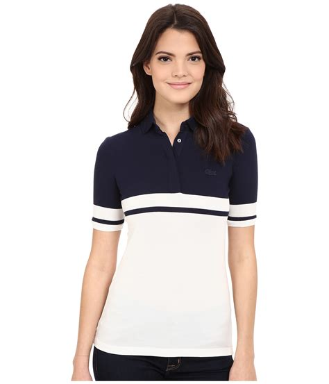 Sleeve Color Block Shirt lyst lacoste half sleeve color block polo shirt in blue