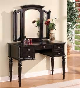 Makeup Vanity Table Black 2pcs Black Vanity Table Tri View Mirror Set Make Up