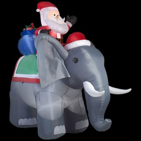 tis  season  ft santa  elephant christmas