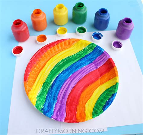 end of the rainbow paper plate twirler craft crafty morning
