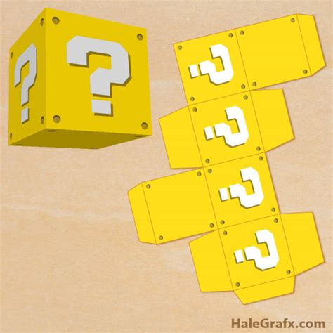 super mario question mark box printable free printable super mario bros question block treat box