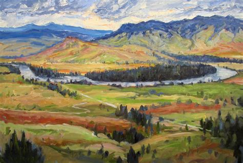 painting montana maurer flathead river valley montana painting
