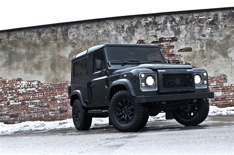 navy range rover kahn land rover defender military edition with wide body