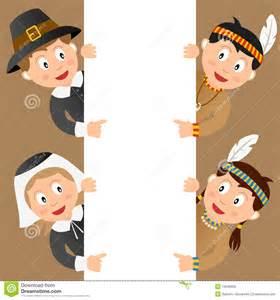kids thanksgiving thanksgiving kids amp blank sign royalty free stock images