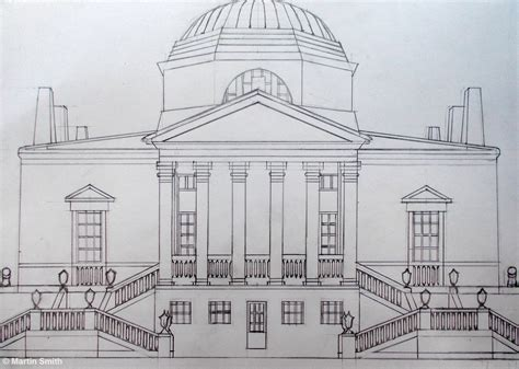 drawing of house martin smith chiswick house line drawing open ended