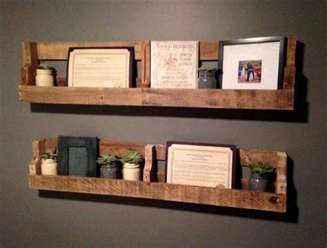 Handmade Shelves - recycled wooden pallet wall shelves pallet furniture diy
