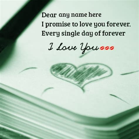 images with i promise you love forever i love you forever promise cards with name