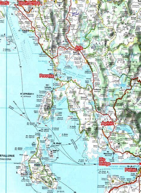 maps maps maps igoumenitsa to patras travel map igoumenitsa mappery