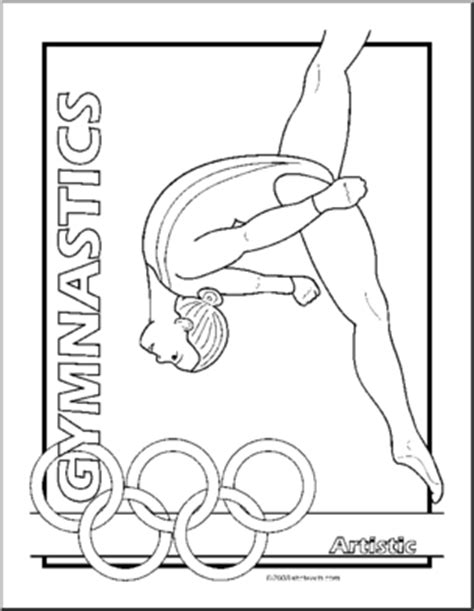 olympic gymnastics coloring pages coloring page summer olympics gymnastics artistic