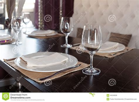 fancy place setting place setting in a restaurant stock photo image 44249509