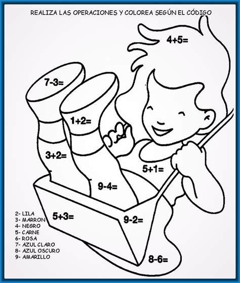 imagenes de niños trabajando matematicas para colorear dibujos para colorear ni 241 os de primaria archivos dibujos