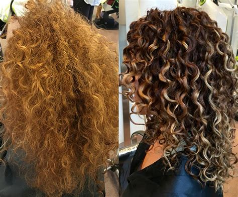 curly hair highlights and lowlights rachael urrico working her colortransformation pintura